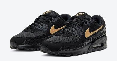 Pánské černé tenisky Nike Air Max 90 Black/Metallic Gold DC4119-001 nízké sportovní boty a obuv Nike Air Max