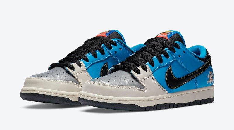 Pánské modré tenisky Instant Skateboards x Nike SB Dunk Low Blue Hero/Pale Ivory/Black CZ5128-400 skate kožené boty a obuv Nike