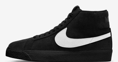 Pánské černé tenisky Nike SB Blazer Mid Black White 864349-007 semišové a vysoké kotníkové boty a obuv Nike