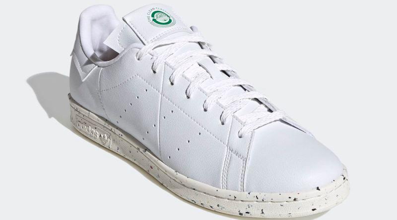 Pánské bílé tenisky a boty adidas Stan Smith Vegan Cloud White/Off White-Green FV0534 kožené nízké botasky a obuv adidas