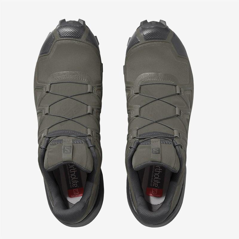 Pánské zelené tenisky a boty Salomon Speedcross 5 Grape Leaf/Black/Phantom 409681 nízké běžecké botasky a obuv Salomon