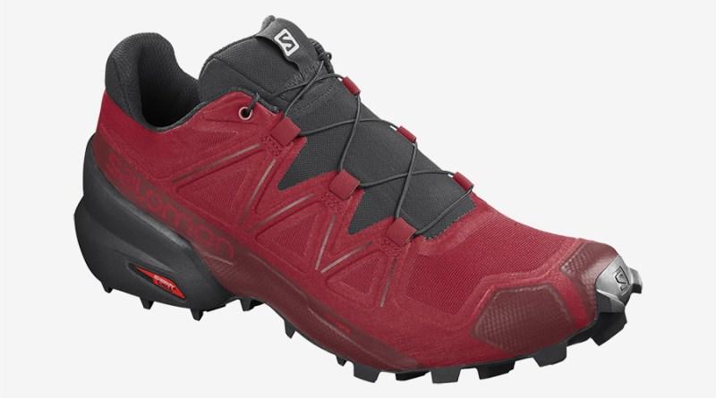 Pánské červené černé tenisky a boty Salomon Speedcross 5 Barbados Cherry/Black/Red Dahlia 409680 běžecké botasky a obuv Salomon