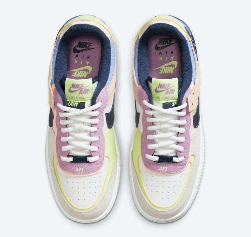 Pánské bílé tenisky Nike Air Force 1 Shadow Photon Dust/Royal Pulse-Barely Volt CU8591-001 kožené nízké boty a obuv Nike AF1