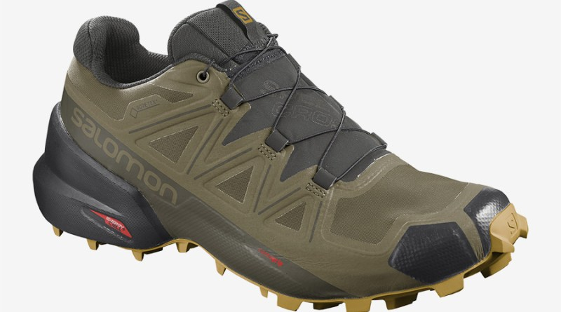 Pánské šedé zelené tenisky a boty Salomon Speedcross 5 GTX GORE-TEX Martini Olive/Peat/Arrowwood 411174 běžecké botasky a obuv Salomon