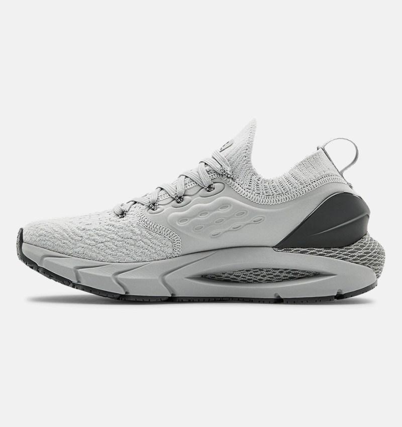 Dámské šedé tenisky a boty Under Armour Hovr Phantom 2 Mod Gray/Mod Gray/Pitch Gray 3023021-101 nízké běžecké botasky a obuv UA