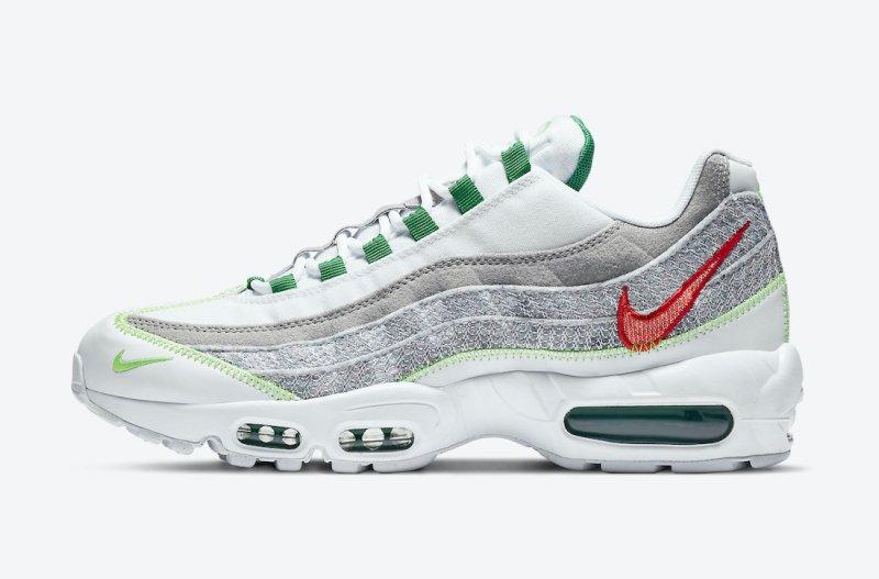 Pánské bílé tenisky a boty Nike Air Max 95 NRG White/Classic Green-Electric Green CU5517-100 nízké botasky a obuv Nike