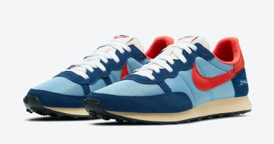 Pánské modré tenisky a boty Nike Challenger OG Light Blue/Habanero Red DC5214-422 nízké běžecké botasky a obuv Nike