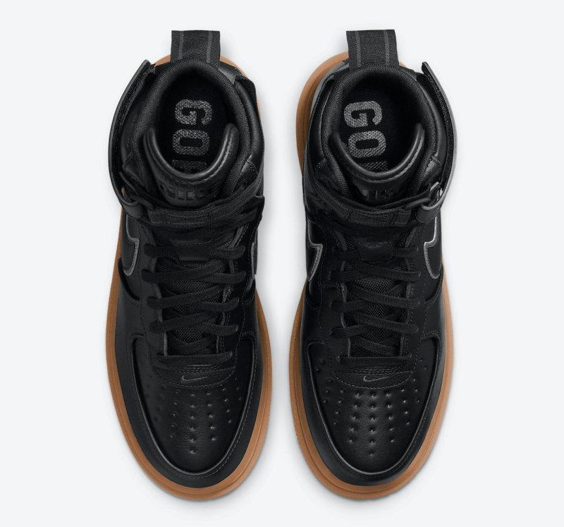 Pánské černé tenisky Nike Air Force 1 Gore-Tex Boot Black/Anthracite-Gum Medium Brown CT2815-001 vysoké kožené boty a obuv Nike AF1