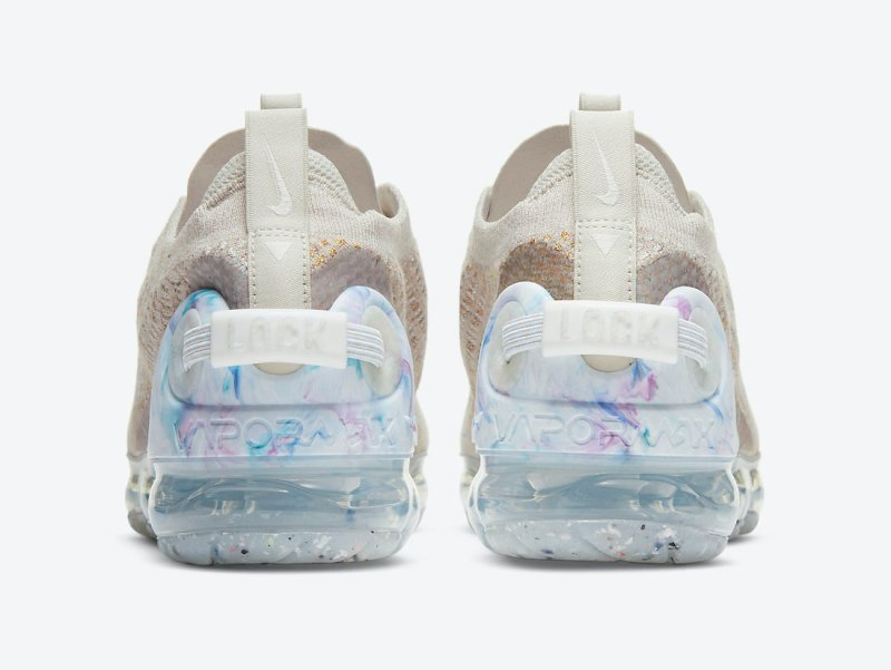 Dámské krémové tenisky a boty Nike Air VaporMax 2020 WMNS Oatmeal/White-Light Bone-Hydrogen Blue CT1933-100 běžecké botasky a obuv Nike