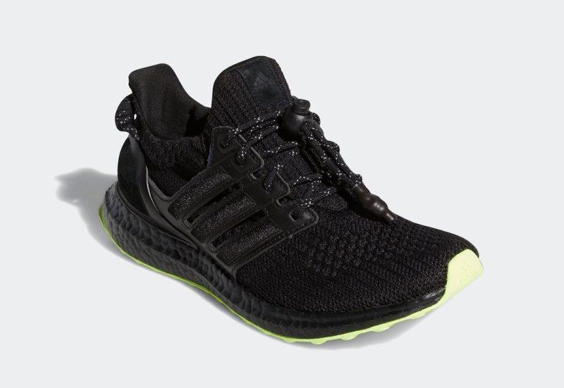 Pánské černé tenisky a botasky Beyonce Ivy Park x adidas Ultra Boost Core Black/Core Black-Hi-Res Yellow GX0200 běžecké boty a obuv Adidas