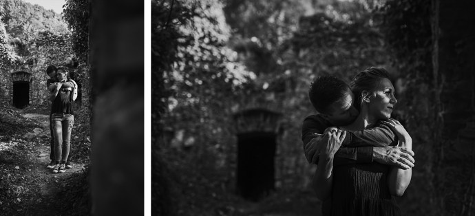 samobor old town engagement session mirela photography hugs in black and white