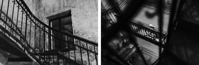 image shows budapest stairway mirela bauer photo