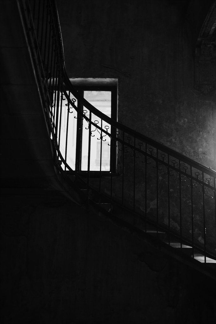 image shows budapest stairway window mirela bauer photo