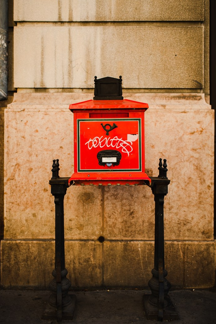 image shows budapest mailbox mirela bauer photo