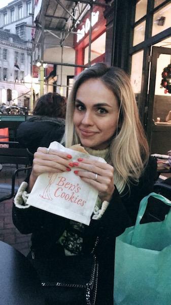 Comer em Londres Ben's cookies