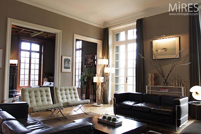 Cuir Blanc Et Noir C0202 Mires Paris