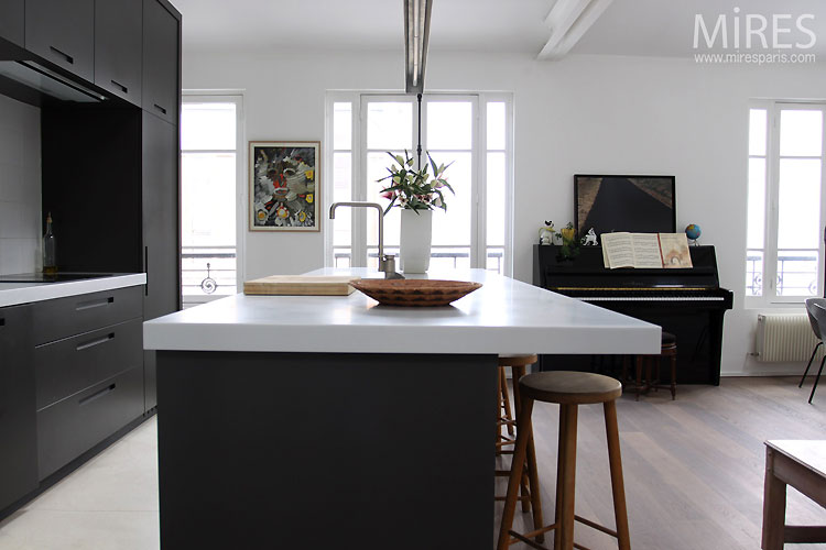 Cuisine Ouverte Moderne C0495 Mires Paris