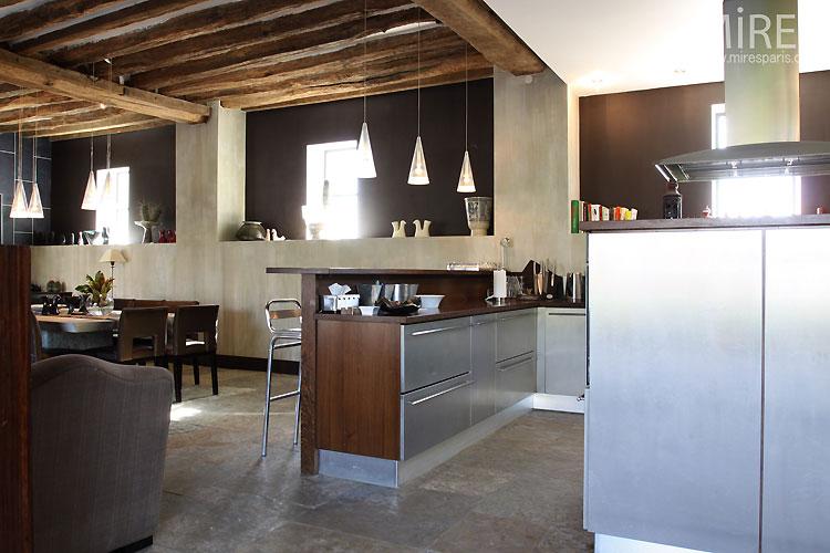 Cuisine Moderne Ouverte C0535 Mires Paris