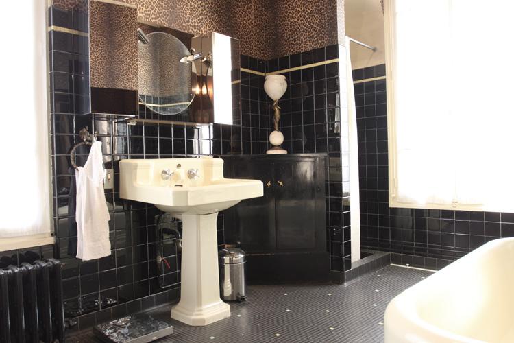 Meubles De Style Salle De Bain Rtro Noire C0577 Mires
