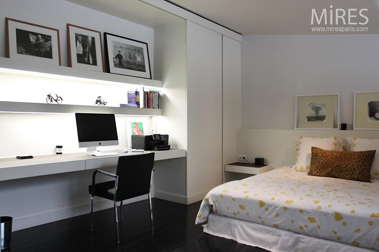 Chambre Bureau En Noir Et Blanc C0750 Mires Paris
