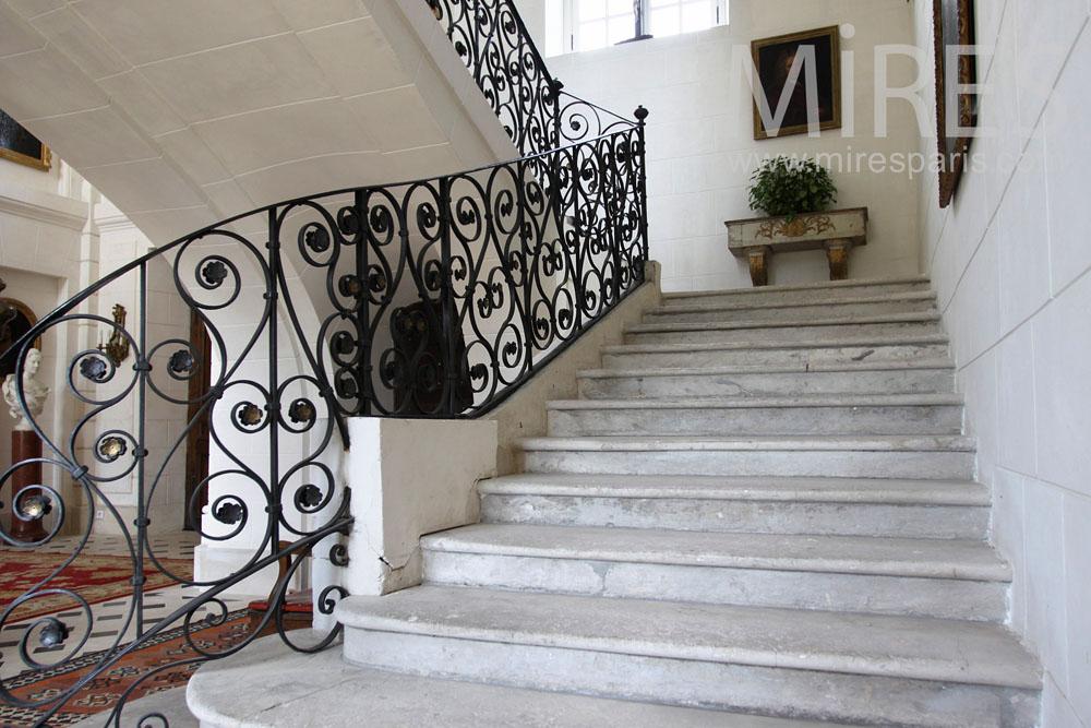 Escalier En Pierre Et Fer Forg C0937 Mires Paris