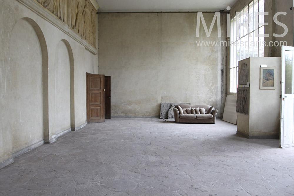 Gris Patin Grande Pice Vide C0179 Mires Paris