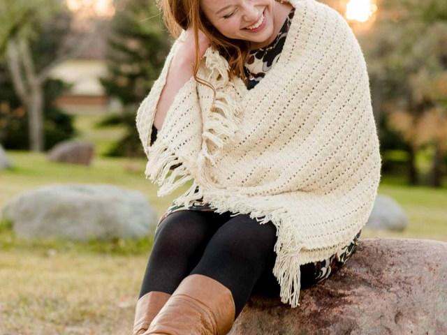 Graduate Student Laughing Sunset Portrait