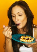 Woman Eating Pie