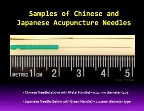 Chinese and Japanese needles