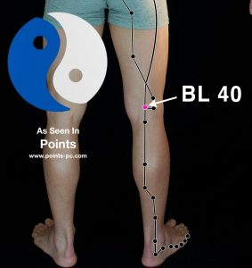 Acupuncture Point BL 40