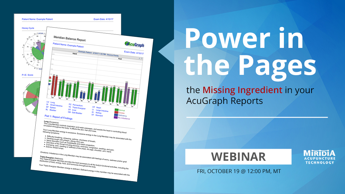 WEBINAR: Power in the Pages - The Missing Ingredient in your AcuGraph Reports