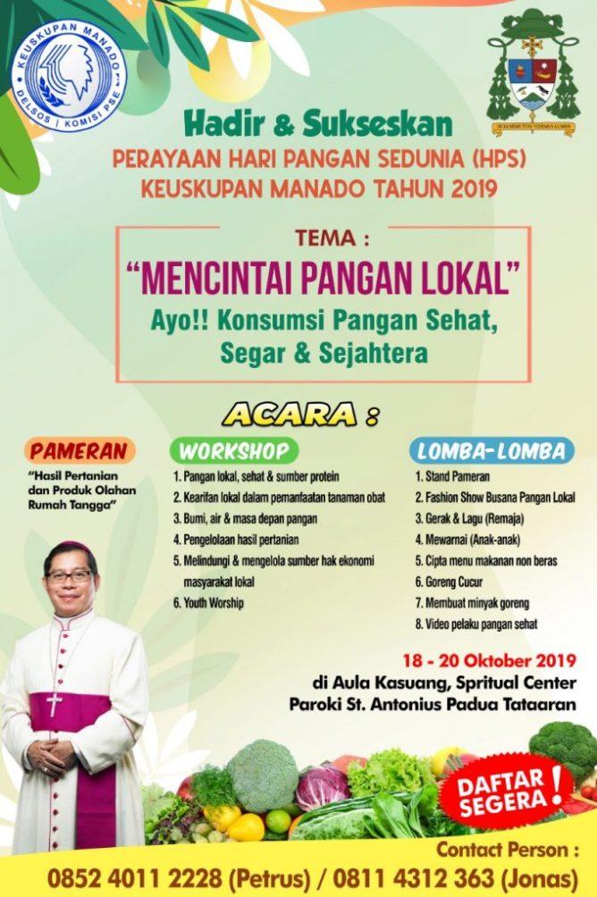 Perayaan Hari Pangan Sedunia di Keuskupan Manado, Dokpri