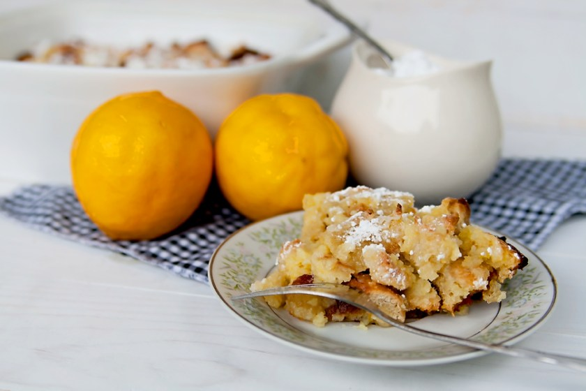 Lemon Bread Pudding: