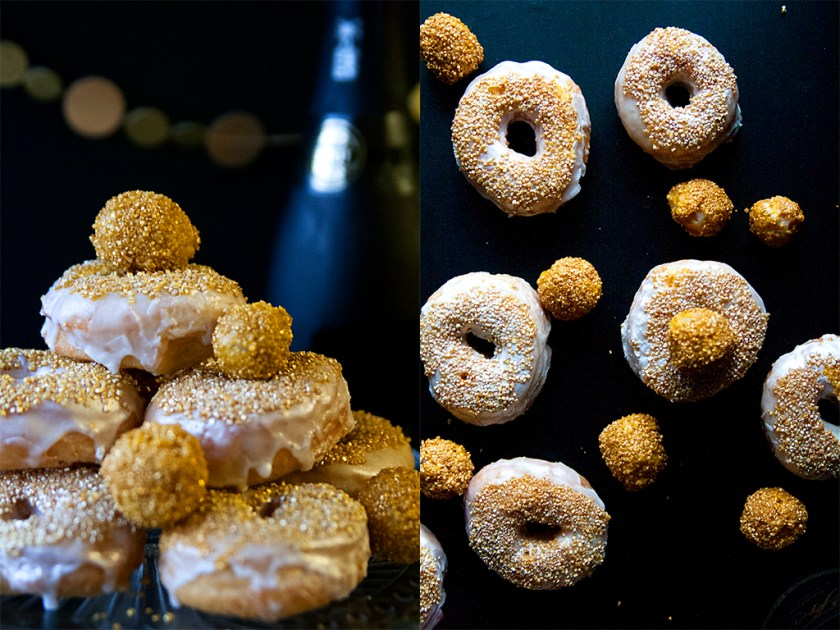 Champagne Donuts for New Year's Eve