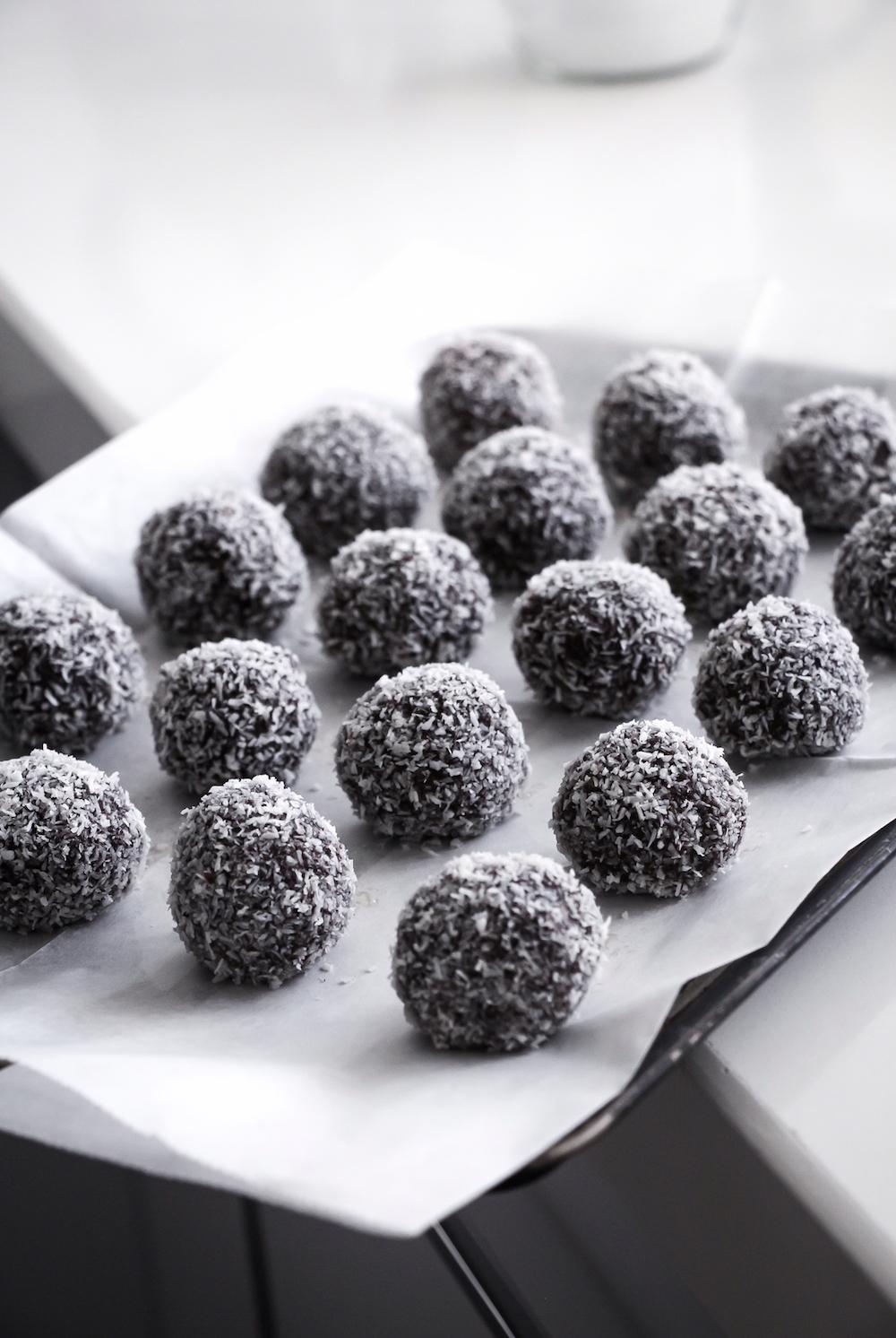 כדורי שוקולד ב-10 דקות
