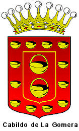cabildo, la gomera, governement, red, yellow, crown