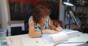 artista, escritura, texto, palabras, caligrama, decoraciones de pared