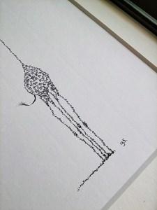 Calligram detail Giraffe amount