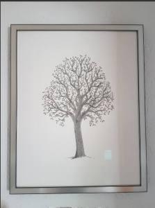 Framed family tree