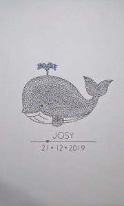 Unframed whale calligram