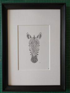 Calligram Zebra head
