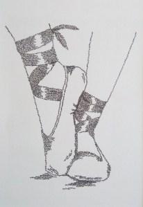 calligram ballet shoes