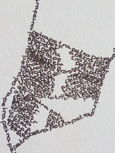 Detailed photo of a calligram