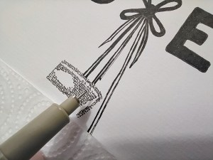 calligram boxging glave pen and detail