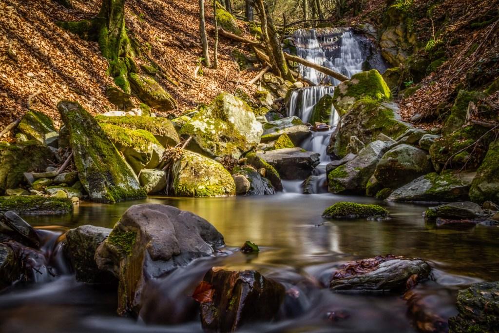 Waterfall in Acquerino Cantagallo Nature Reserve