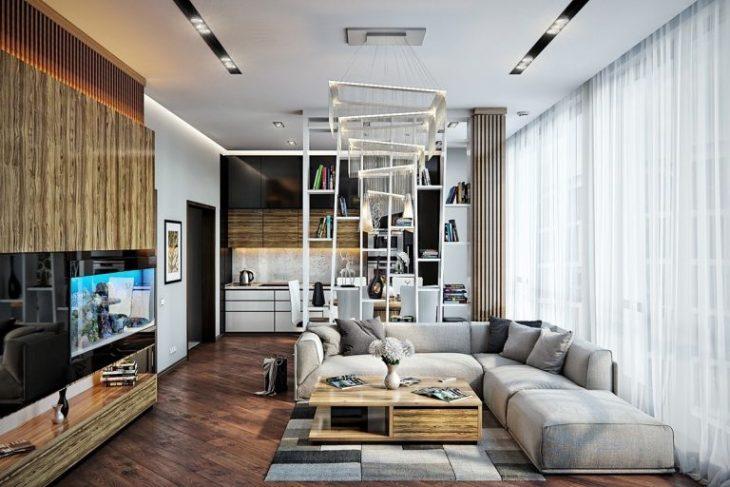 дизайн интерьера квартиры в современном стиле реальные фотографии 2019 7