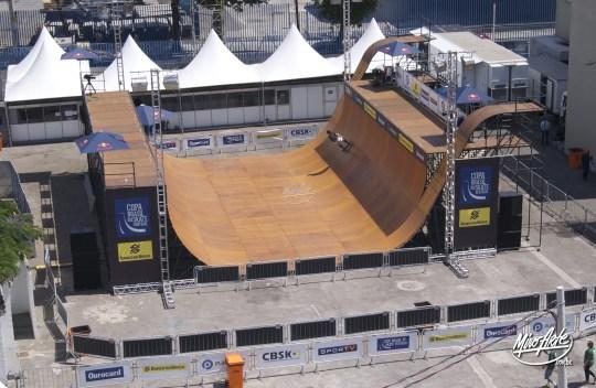 Vista aérea do half-pipe do Circuito Banco do Brasil no Rio de Janeiro