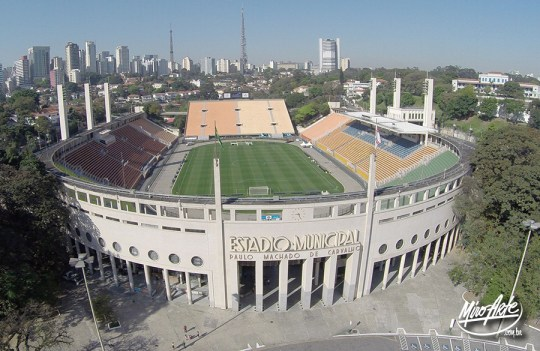 Evento esportivo no Estádio do Pacaembu - São Paulo