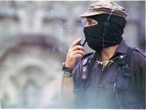 Subcomandante Marcos, leader of the EZLN (photo credits to Carlos Dardón via Flickr Creative Commons)
