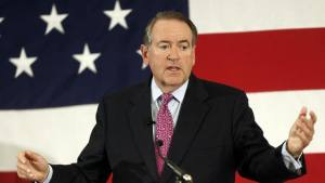 Fun fact: Huckabee plays bass guitar in his classic-rock cover band, Capitol Offense